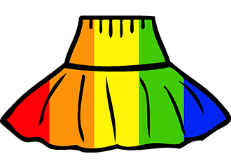 Regenboog Petticoats