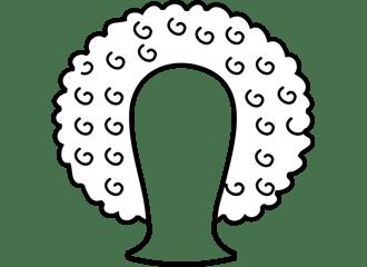 Witte Afro Pruiken