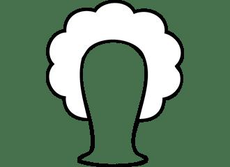 Witte Krullen Pruiken