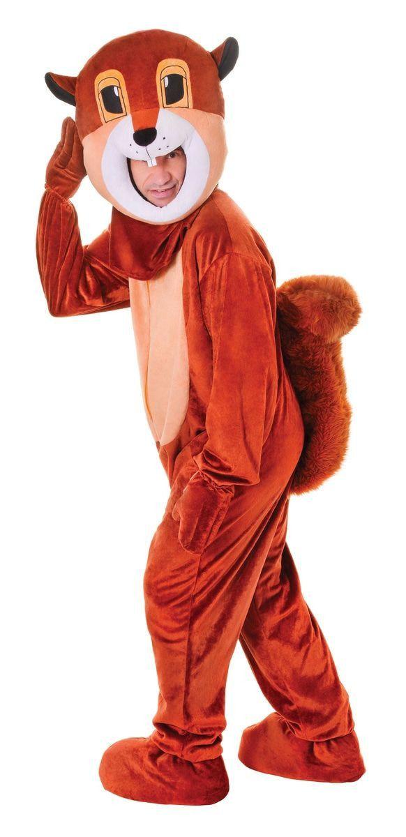 Eekhoorn Met Groot Hoofd Man Kostuum