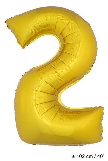 Ballon Nummer 2 Goud