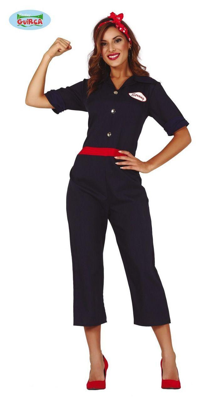 Rosie De Riveter Tweede Wereldoorlog Amerika Vrouw Kostuum