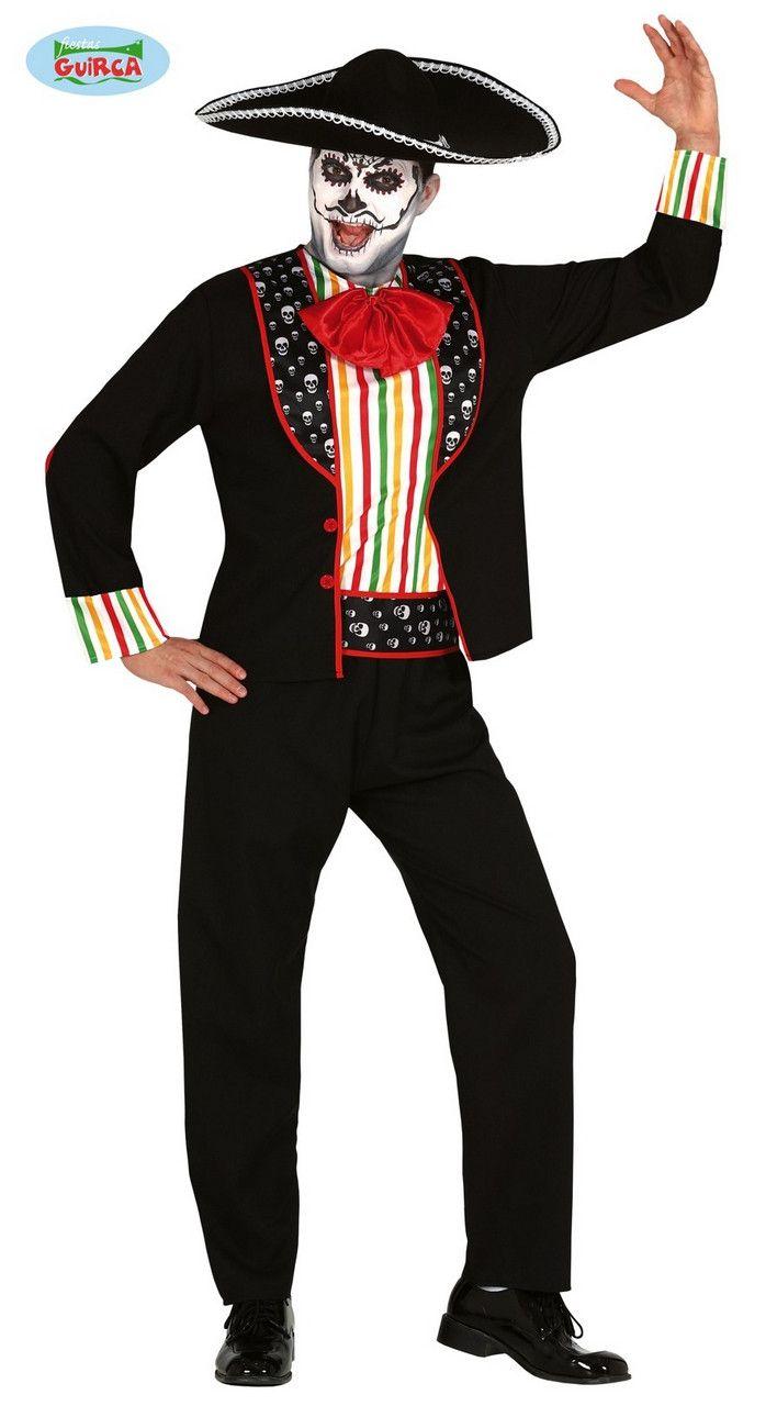 Caramba Carlos Mariachi Day Of The Dead Man Kostuum