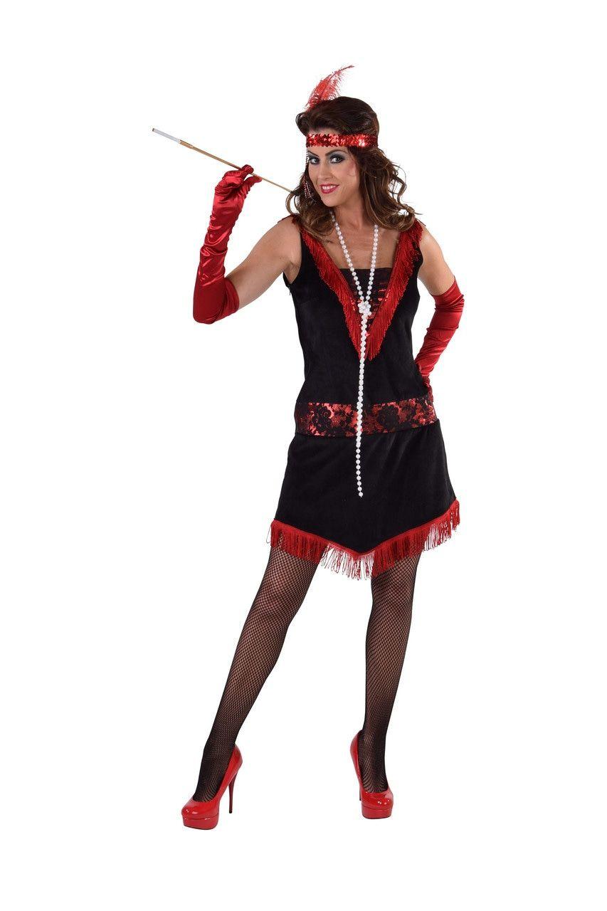 Charleston Revue Swingdans Vrouw Kostuum