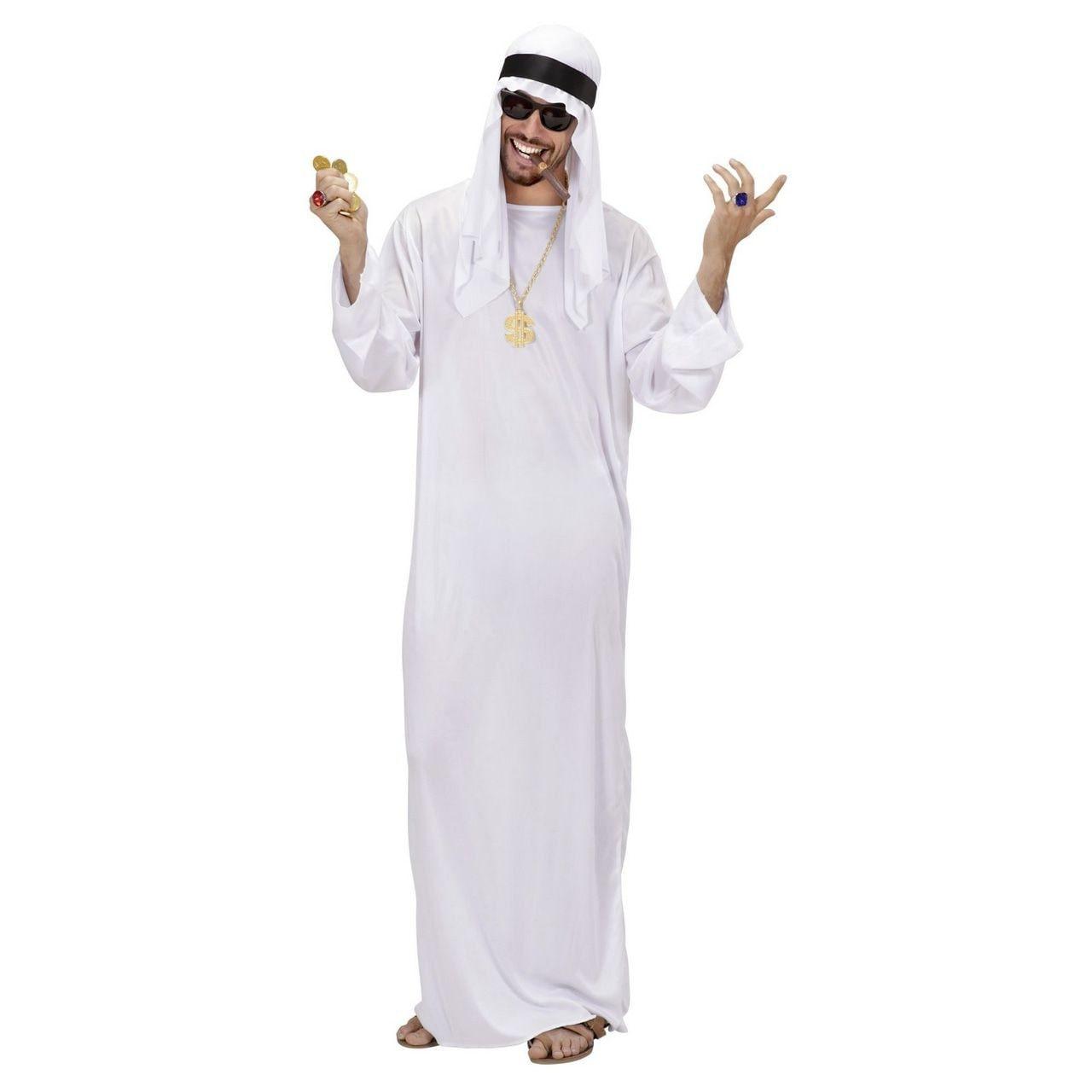 Arabische Sjeik Man Kostuum Wit