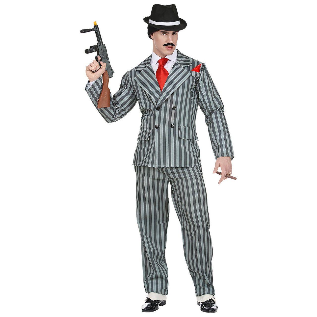 Originele Krijtstreep Gangster Man Kostuum