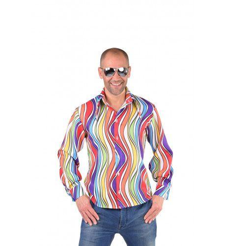 Hemd Regenboog Golven Man