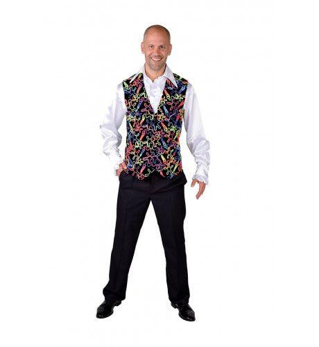 Disco Gilet Zwart Multi Fluor Man