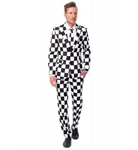 Schaakbord Checked Black White Suitmeister Kostuum Man