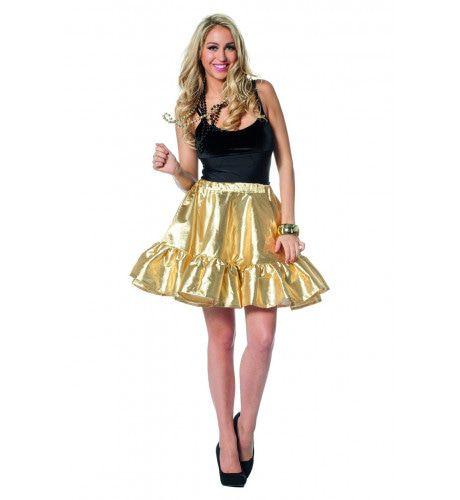 Gaaf Glinsterende Gouden Dans Rok Vrouw