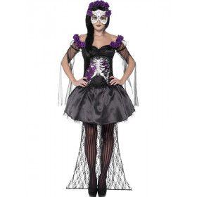 Day Of The Dead Senorita Angelita Vrouw Kostuum