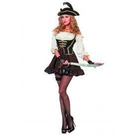 Pirate Bruin Dutch Delight Jurk Vrouw