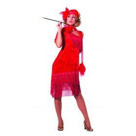 Ms 20-Red Charleston, Rood Vrouw Kostuum