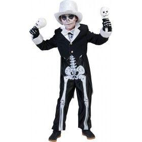 Zwart Wit Skeletten Kostuum Bonny Skulla Jongen
