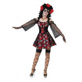 Muertos Mexicanos Vrouw Kostuum