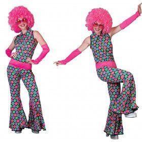 Disco Dot Jumpsuit Vrouw Kostuum