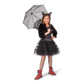 Zwarte Glitter Tule Petticoat Meisje