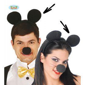 Mooie Ronde Muizenoren Haarband Mickey
