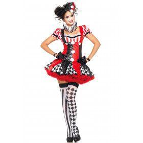 Verleidelijke Dames Clown Jurk Vrouw