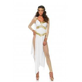 Witte Verleidelijke Griekse Godin Vrouw Kostuum
