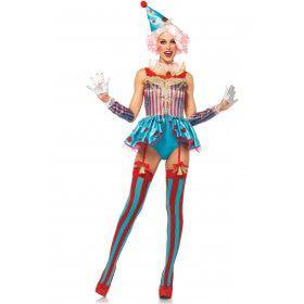Doldwaze Circus Clown Vrouw Kostuum