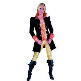 Zwarte Markiezin Madame Cheval Mantel En Vest Vrouw