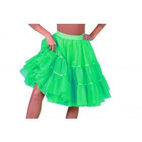 Jaren 50 High School Petticoat Groen Vrouw