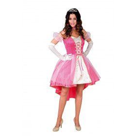 Lieftallige Prinses Roze Wolk Jurk Vrouw