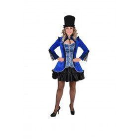 Vergulde Bourgeoisie Jas Blauw Vrouw