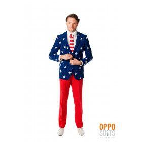 American Stars And Stripes Opposuit Kostuum Man