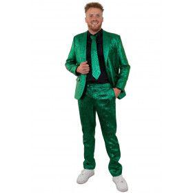 Glamour Green Metallic 3delig Man Kostuum