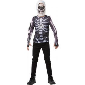 Magere Fortnite Skull Trooper Top Kind Kind Kostuum