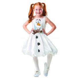 Vrolijke Lieve Olaf Sneeuwpop Frozen Meisje Kostuum