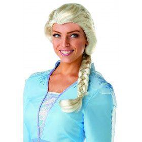 Pruik Met Vlecht Elsa Frozen 2