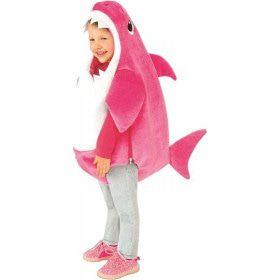 Roze Mommy Shark Kind Met Geluid Kind Kostuum