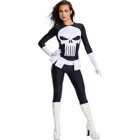 Wraakzuchtige Superheld Secret Wishes Punisher Vrouw Kostuum