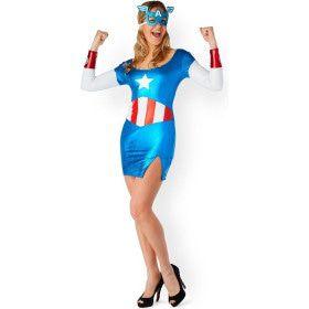 Verleidelijke Miss America Dream Metallic Vrouw Kostuum