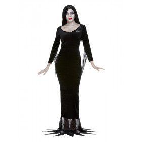 Addams Family Morticia Vrouw Kostuum