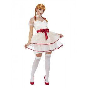 Porceleinen Pop Vrouw Kostuum