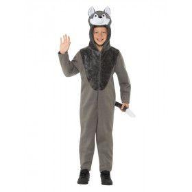 Dolf De Wilde Grijze Wolf Kind Kostuum