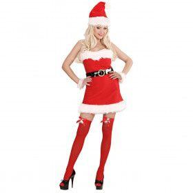 Kerstvrouw Flannel Santa Lady XL Kostuum