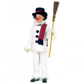 Grappige Sneeuwman Kind, Flanel & Pluche Kostuum Kind