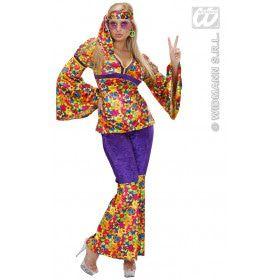 Hippie Dame Fluweel Ms Dudina Kostuum Vrouw