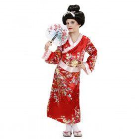 Asian Flower Geisha Kind Kostuum Meisje