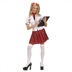 Spannend Schoolmeisje Kostuum Vrouw