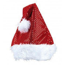 X-Mas Fever Kerstmanmuts Glitter, Rood