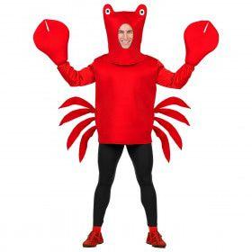 Vuurrode Voorgekookte Krab Kostuum