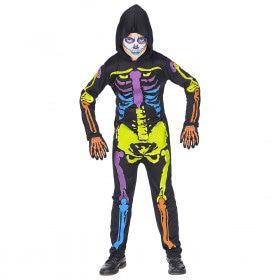 Felgekleurd Neon Skelet Kind Kostuum