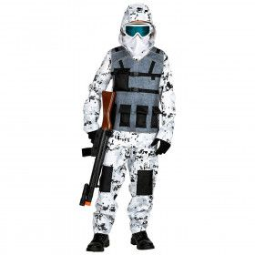 Arctische Speciale Eenheid Pool Commando Kostuum Wit Camouflage Kind
