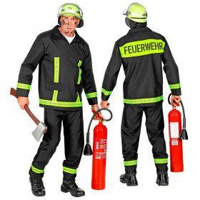 Brandweerman Feuerwehr Huizenhoge Vlammen Kostuum